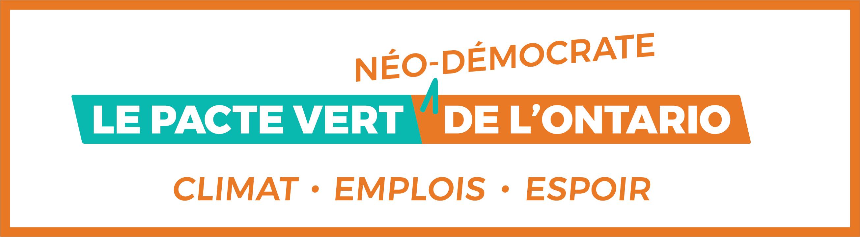 Appuyez notre Pacte vert néo-démocrate de l'Ontario
